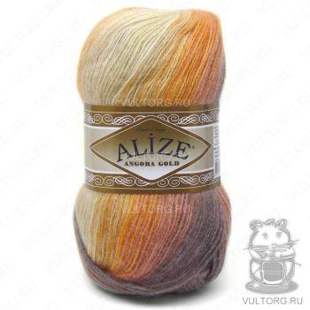 Пряжа Alize Angora Gold Batik, цвет № 4741