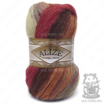 Пряжа Alize Angora Gold Batik, цвет № 6283