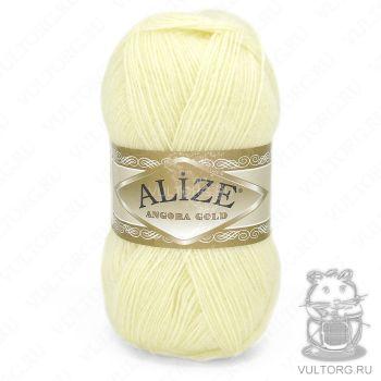 Пряжа Alize Angora Gold, цвет № 01 (Кремовый)