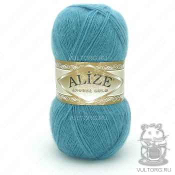 Пряжа Alize Angora Gold, цвет № 164 (Лазурный)