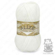 Пряжа Alize Angora Gold, цвет № 55 (Белый)