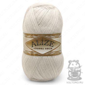 Пряжа Alize Angora Gold, цвет № 599 (Слоновая кость)