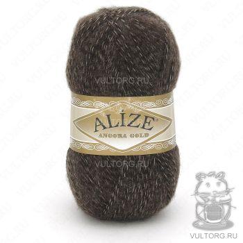 Пряжа Alize Angora Gold, цвет № 707 (Темно-коричневый)