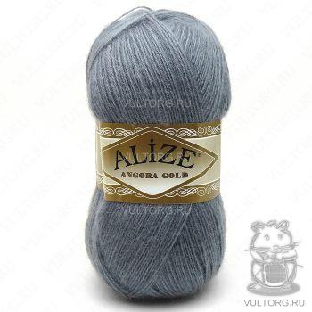 Пряжа Alize Angora Gold, цвет № 87 (Средне-серый)