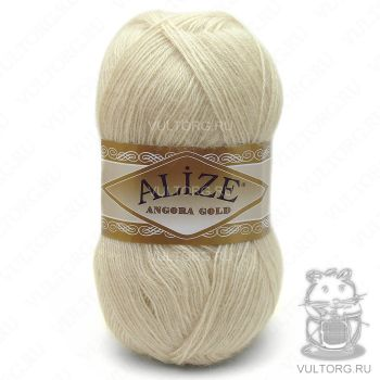 Пряжа Alize Angora Gold, цвет № 67 (Молочно-бежевый)