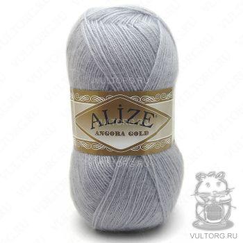 Пряжа Angora Gold Ализе, цвет № 21 (Светло-серый)