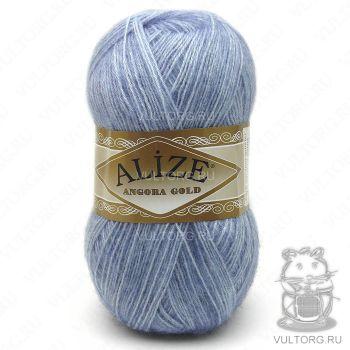 Пряжа Alize Angora Gold, цвет № 221 (Светлый джинс меланж)