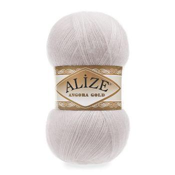 Пряжа Alize Angora Gold, цвет № 168 (Белая зима)
