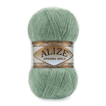 Пряжа Alize Angora Gold, цвет № 180 (Зеленый миндаль)