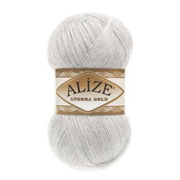 Пряжа Alize Angora Gold, цвет № 208 (Светло-серый меланж)
