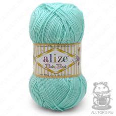 Пряжа Alize Baby Best, цвет № 19 (Водяная зелень)