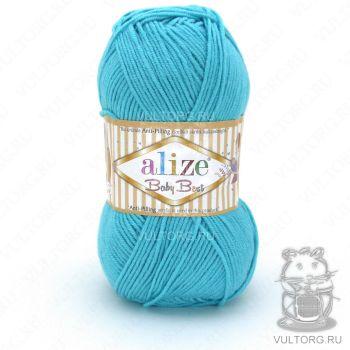 Пряжа Alize Baby Best, цвет № 287 (Светло-бирюзовый)