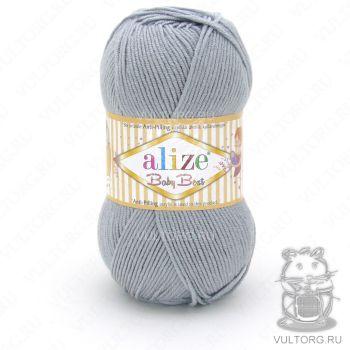 Пряжа Alize Baby Best, цвет № 344 (Серый)