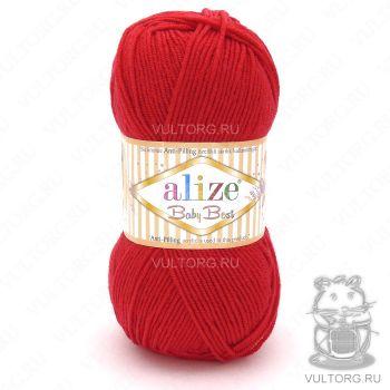 Пряжа Alize Baby Best, цвет № 56 (Красный)