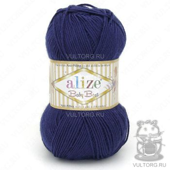 Пряжа Alize Baby Best, цвет № 58 (Темно-синий)