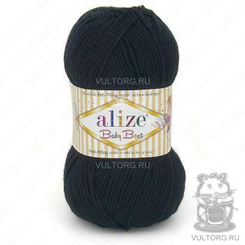 Пряжа Alize Baby Best, цвет № 60 (Чёрный)