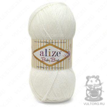 Пряжа Baby Best Ализе, цвет № 55 (Белый)