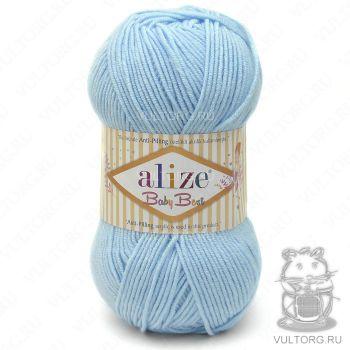 Пряжа Alize Baby Best, цвет № 40 (Голубой)