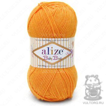 Пряжа Alize Baby Best, цвет № 336 (Оранжевый)