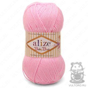 Пряжа Alize Baby Best, цвет № 191 (Светло-розовый)