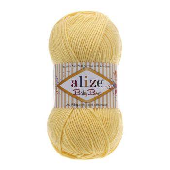 Пряжа Alize Baby Best, цвет № 250 (Светлый лимон)