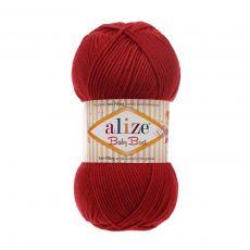 Пряжа Alize Baby Best, цвет № 106 (Темно-красный)
