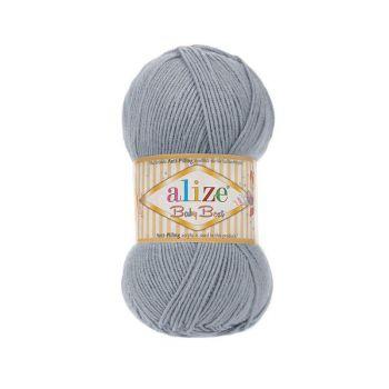 Пряжа Alize Baby Best, цвет № 119 (Серое небо)