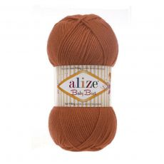 Пряжа Alize Baby Best, цвет № 408 (Оранжевый)
