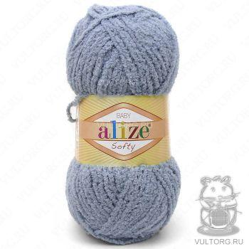 Пряжа Alize Baby Softy, цвет № 119 (Серое небо)