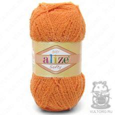 Пряжа Baby Softy Ализе, цвет № 336 (Оранжевый)