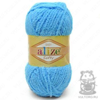 Пряжа Alize Baby Softy, цвет № 364 (Морская волна)