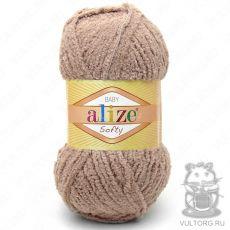 Пряжа Baby Softy Ализе, цвет № 617 (Кофе с молоком)