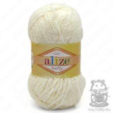 Пряжа Baby Softy Ализе, цвет № 62 (Светло-молочный)
