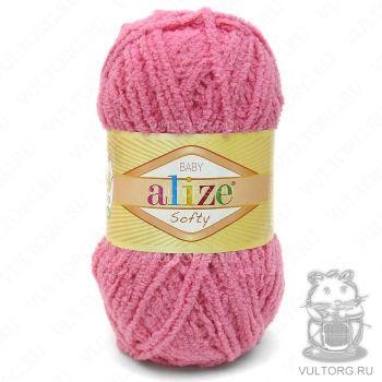 Пряжа Alize Baby Softy, цвет № 33 (Ярко-розовый)