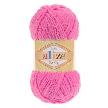 Пряжа Alize Baby Softy, цвет № 157 (Розовый неон)