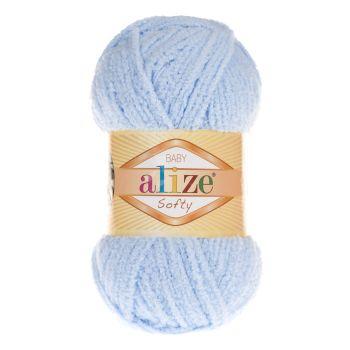 Пряжа Alize Baby Softy, цвет № 183 (Светло-голубой)