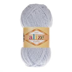 Пряжа Alize Baby Softy, цвет № 416 (Серый)