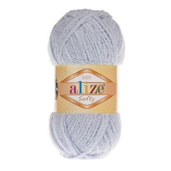 Пряжа Baby Softy Ализе, цвет № 416 (Серый)