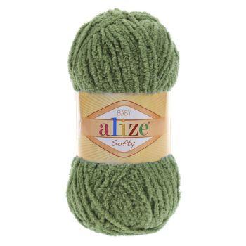 Пряжа Baby Softy Ализе, цвет № 485 (Зеленая черепаха)