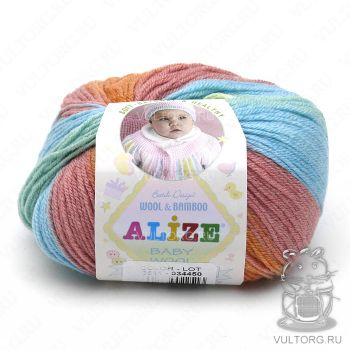 Пряжа Alize Baby Wool Batik, цвет № 3611