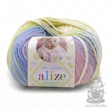Пряжа Alize Baby Wool Batik, цвет № 4004
