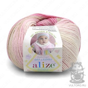 Пряжа Alize Baby Wool Batik, цвет № 4397