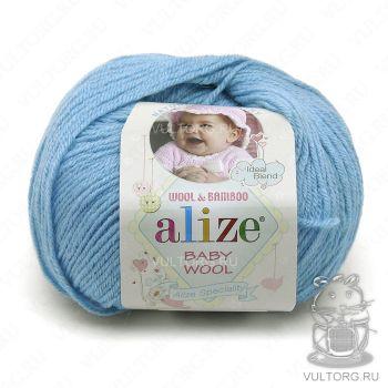 Пряжа Alize Baby Wool, цвет № 128 (Морская вода)