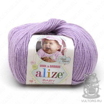 Пряжа Alize Baby Wool, цвет № 146 (Лиловый)