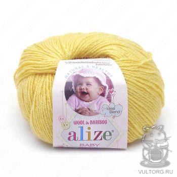 Пряжа Alize Baby Wool, цвет № 187 (Лимонный)
