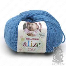 Пряжа Baby Wool Ализе, цвет № 245 (Морская волна)