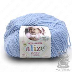 Пряжа Baby Wool Ализе, цвет № 350 (Светло-голубой)