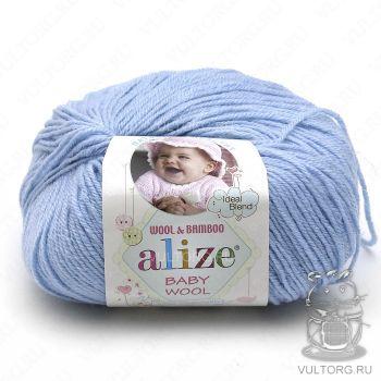 Пряжа Alize Baby Wool, цвет № 350 (Светло-голубой)