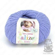 Пряжа Baby Wool Ализе, цвет № 40 (Голубой)