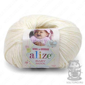 Пряжа Alize Baby Wool, цвет № 450 (Жемчужный)